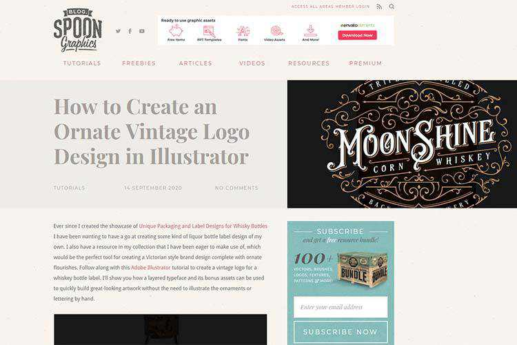 Example from How to Create an Ornate Vintage Logo Design in Illustrator
