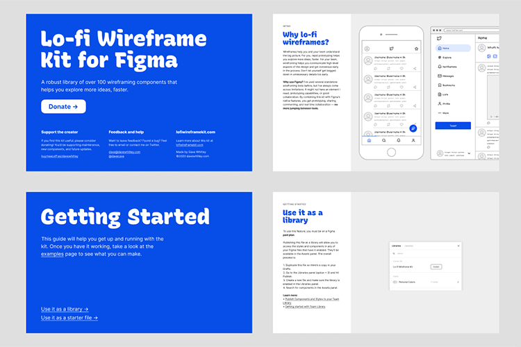Example from Lo-fi Wireframe Kit