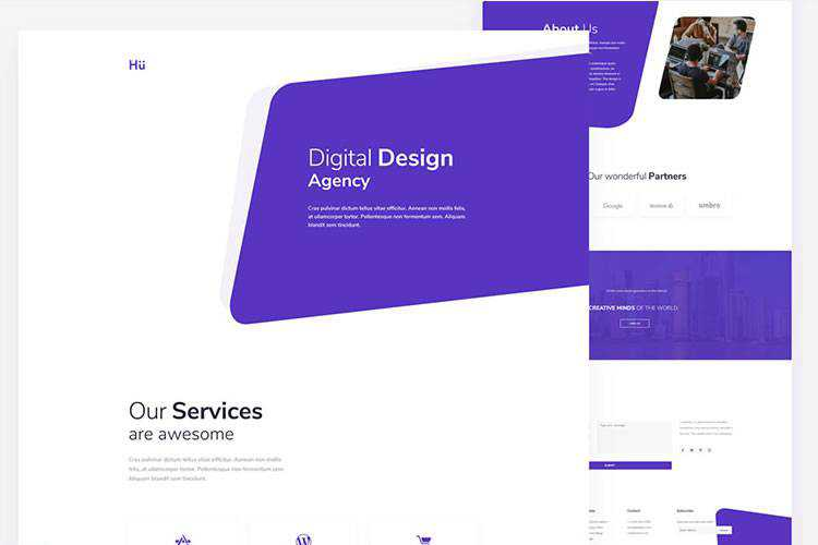 Example from 10 Free Design Agency Web Templates for Photoshop