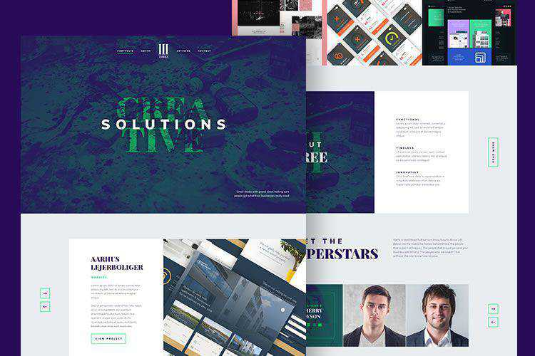10 Free Design Agency Web Templates for Photoshop