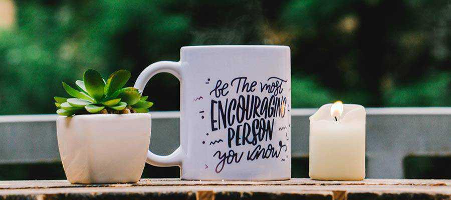 A coffee mug.