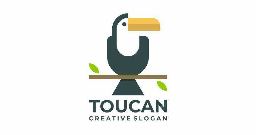 Toucan Flat Creative Logo