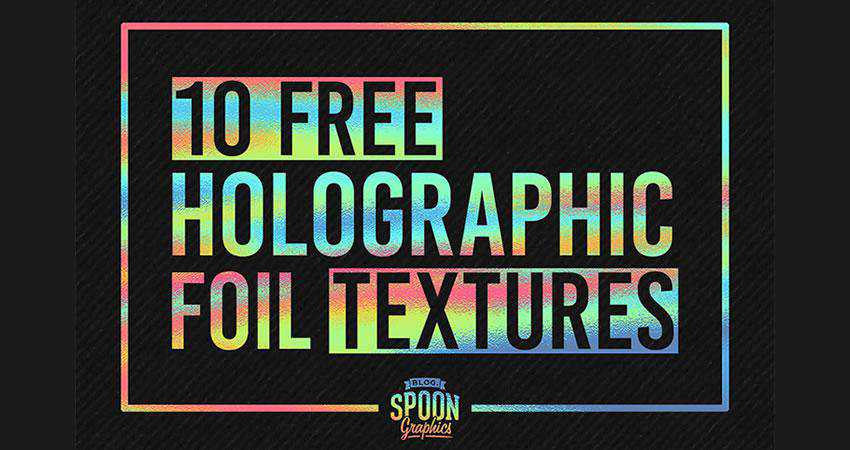 Holographic Foil Print free high-res textures