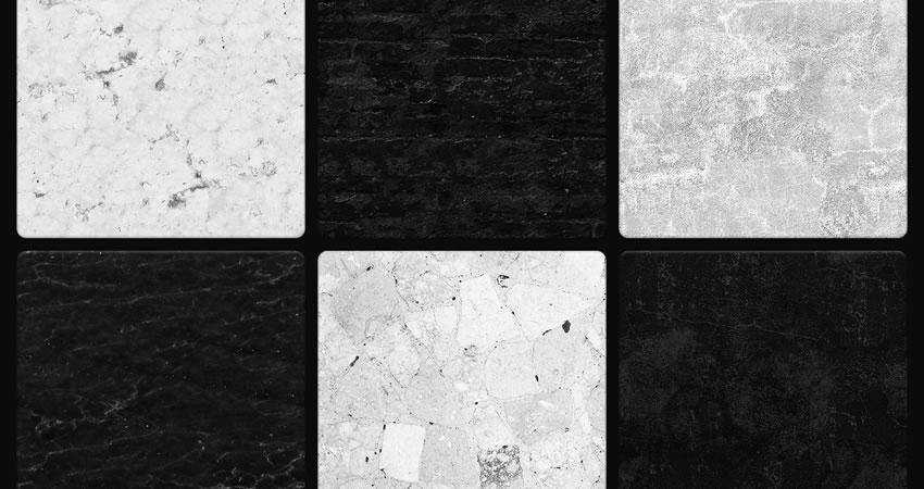 Black White Seamless free high-res textures