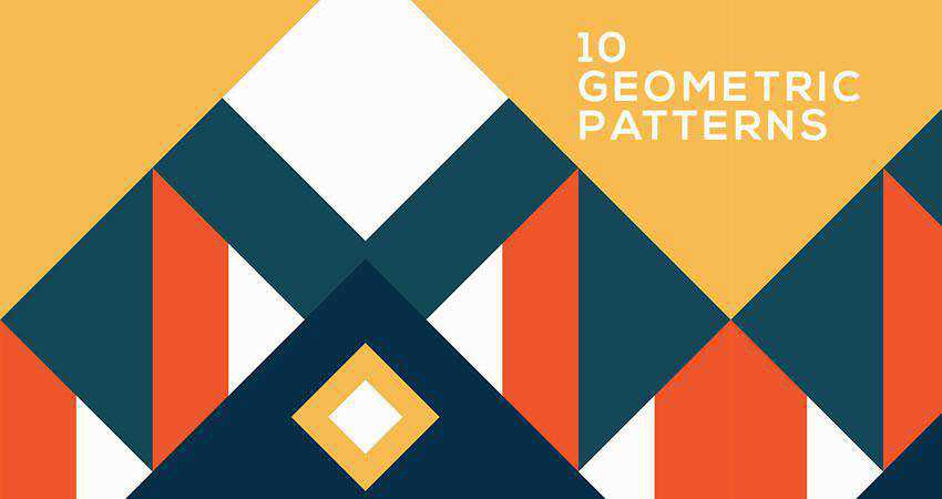 Colorful Geometric free patterns seamless