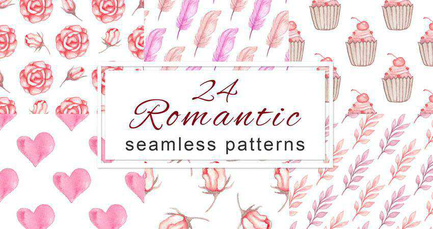 Romantic free patterns seamless