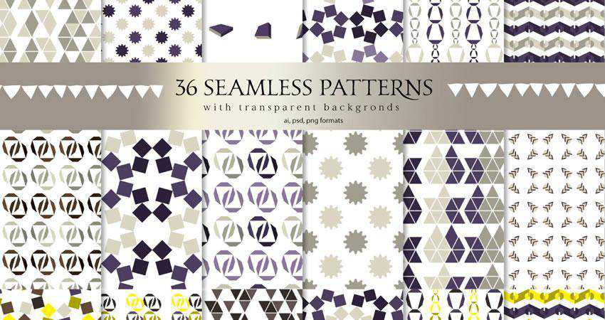 Minimalstic Geometric free patterns seamless