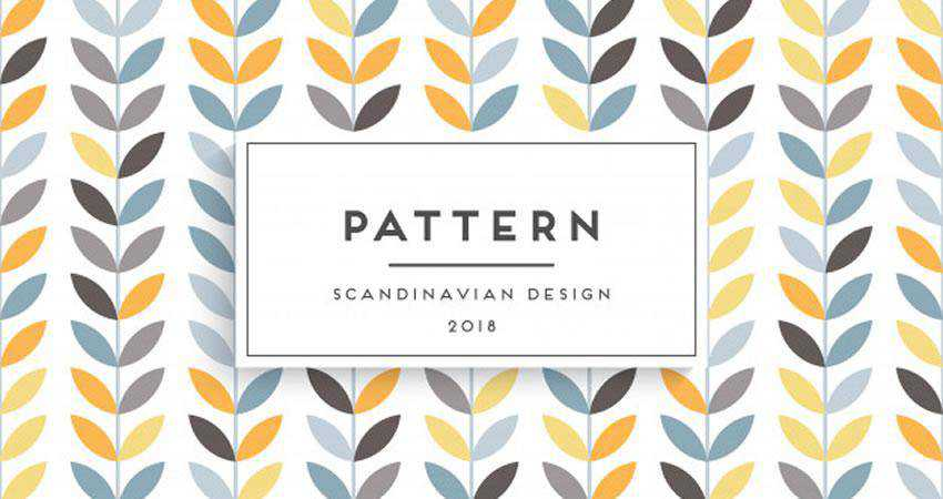 Vector Scandinavian free patterns seamless