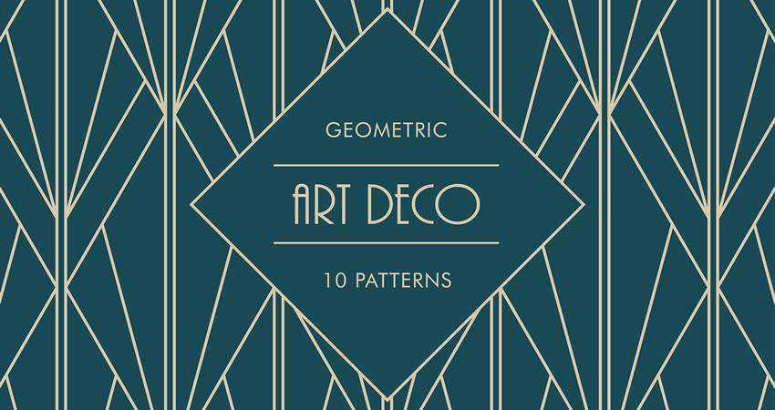 Art Deco Geometric free patterns seamless