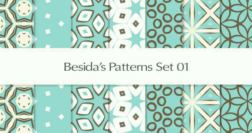 Retro free patterns seamless