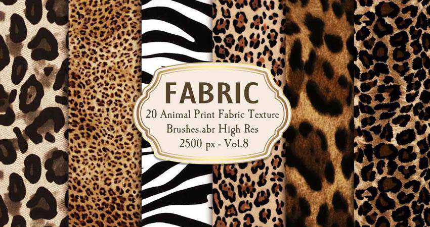 Animal Print Fabric Brushes free patterns seamless