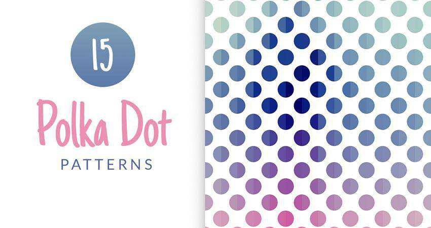 Polka Dot Background free patterns seamless
