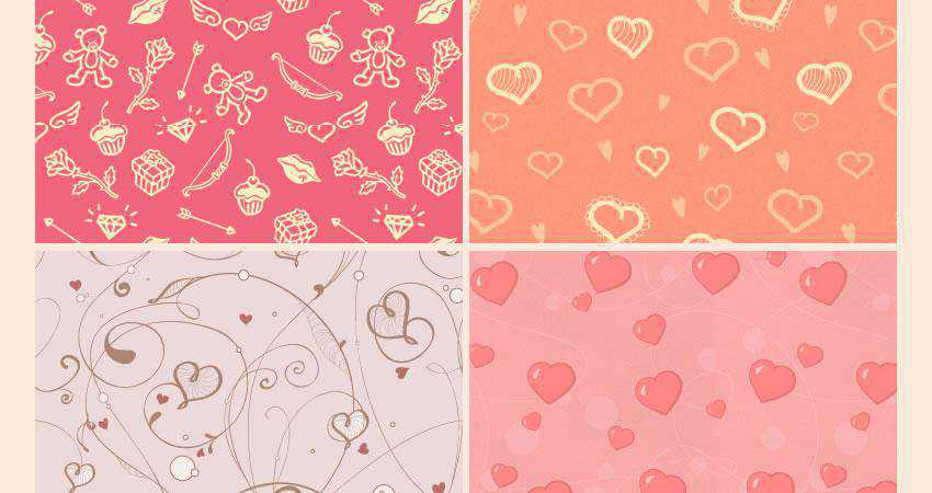 St Valentine free patterns seamless