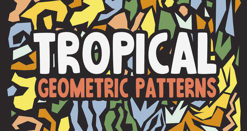 Abstract Tropical free patterns seamless
