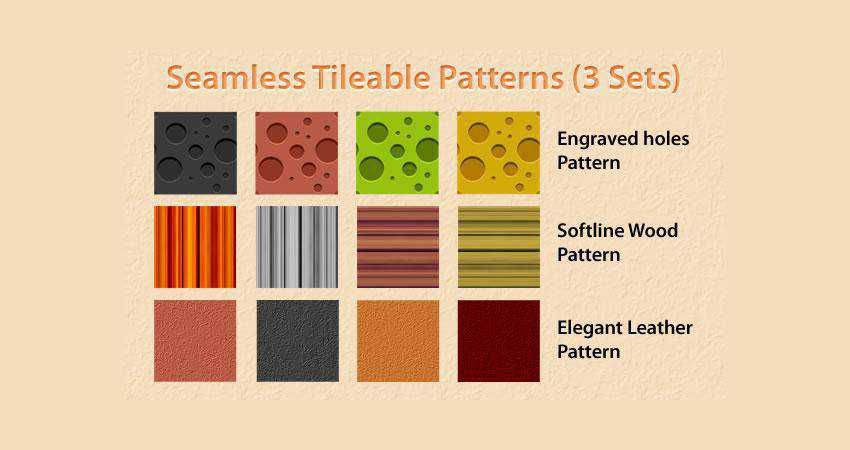 Tileable free patterns seamless