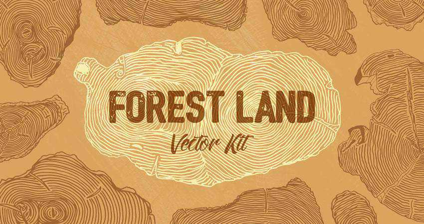 Forest Land Free Wood free patterns seamless