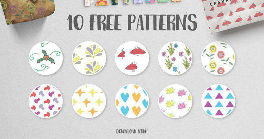Geometric Floral free patterns seamless