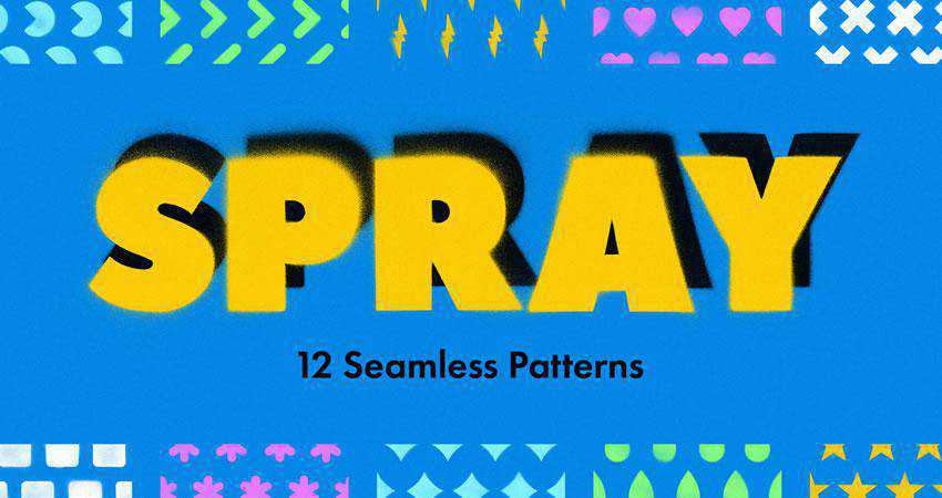 Spray free patterns seamless