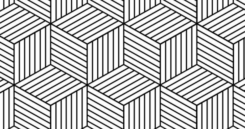 Hexagon Geometric free patterns seamless