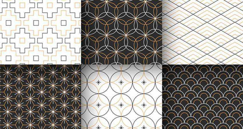 Vector Minimal Geometric free patterns seamless