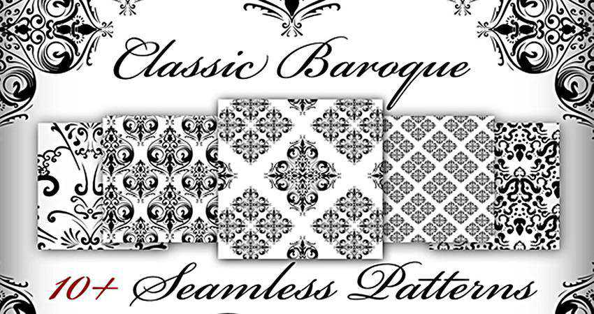 Classic Baroque free patterns seamless