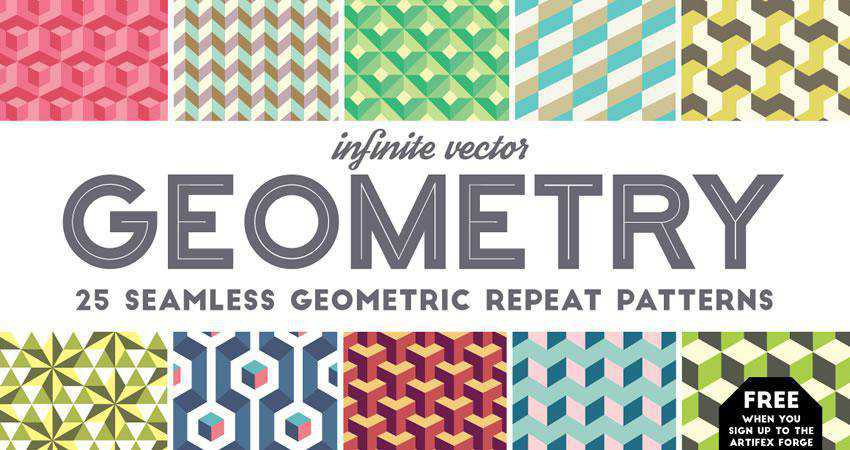 Infinite Geometry free patterns seamless