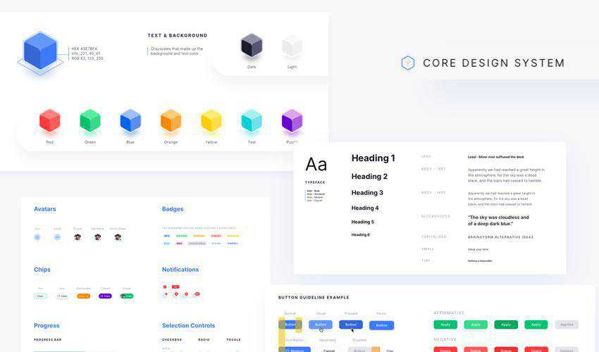 Core Design System free web ui kit user interface
