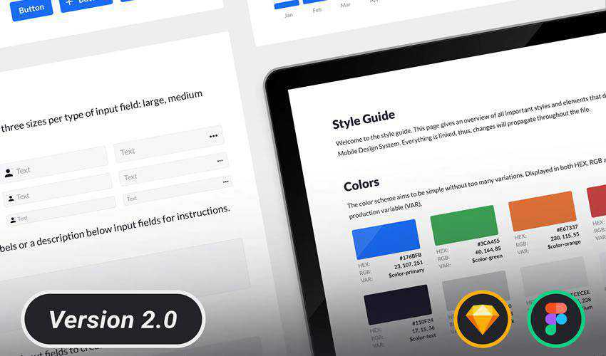 Design System Styleguide free web ui kit user interface