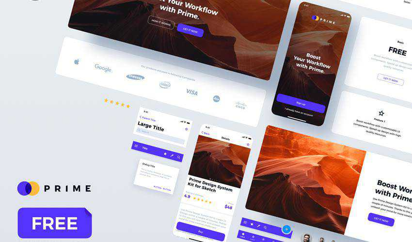 Prime 2.0 Design System free web ui kit user interface