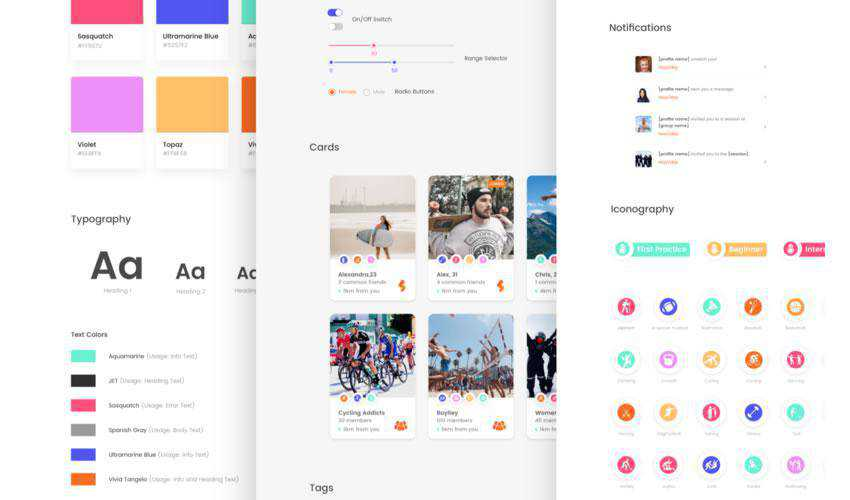 App Design System free web ui kit user interface