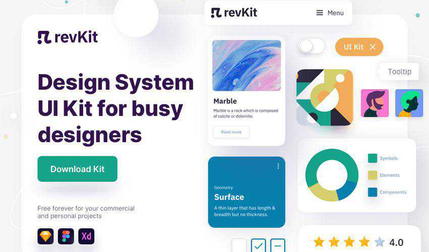 RevKit Design System free web ui kit user interface