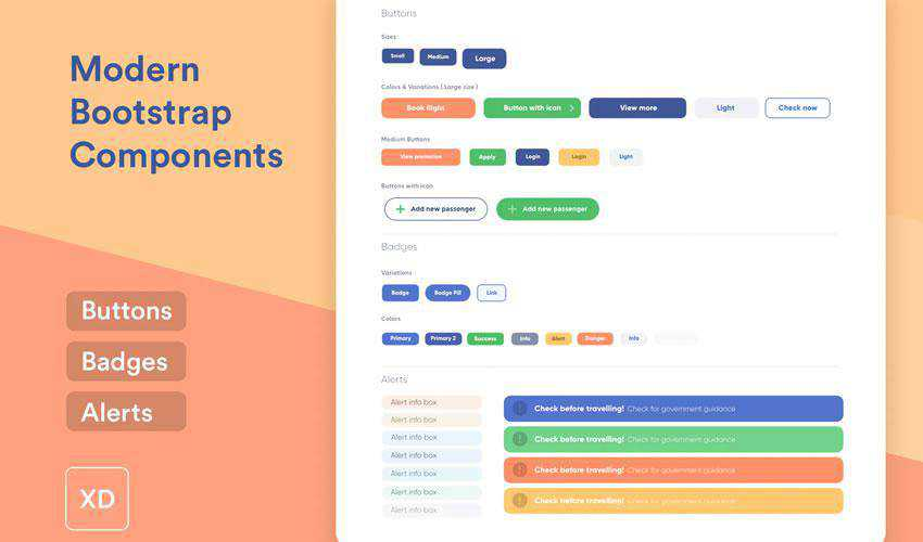 Modern Bootstrap Components free web ui kit user interface
