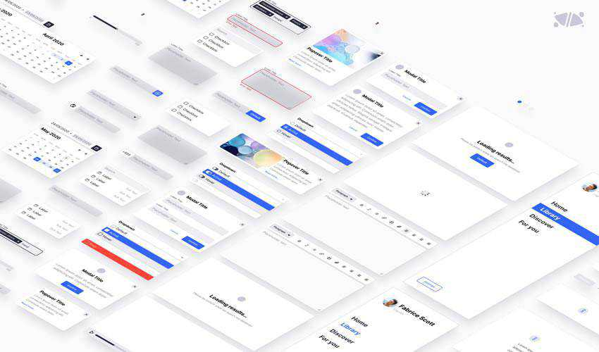 Exo Kit Design System free web ui kit user interface