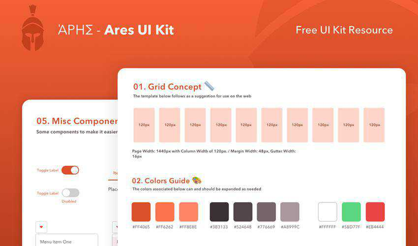 Ares free web ui kit user interface