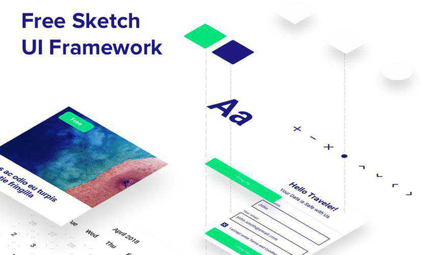 Framework free web ui kit user interface