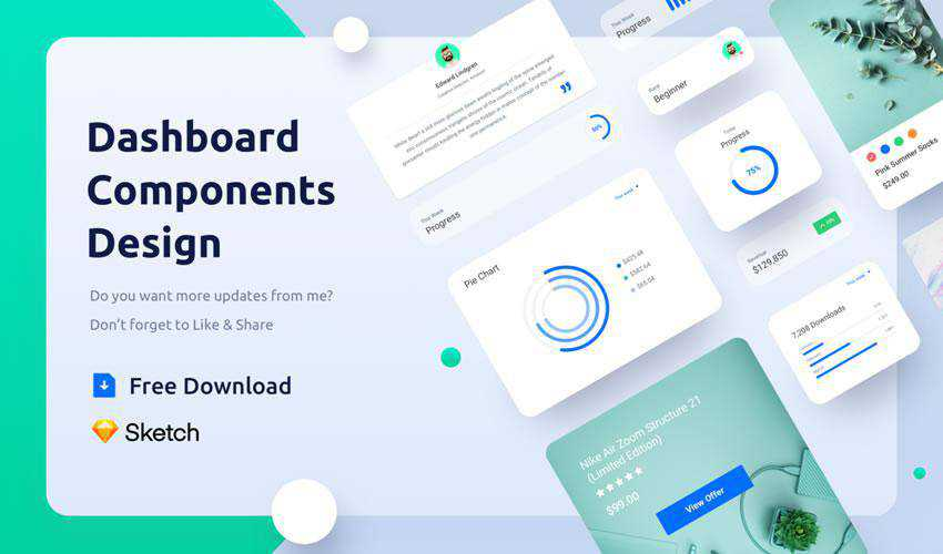 Dashboard Components free web ui kit user interface