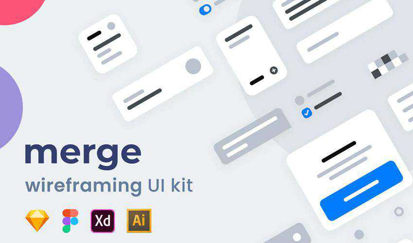 Merge Wireframing free web ui kit user interface