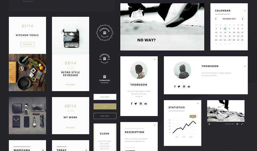 Elements free web ui kit user interface