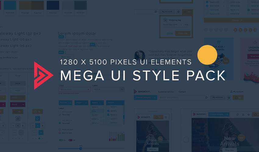 Mega Style Pack free web ui kit user interface