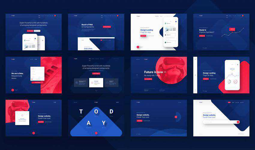 Today free web ui kit user interface