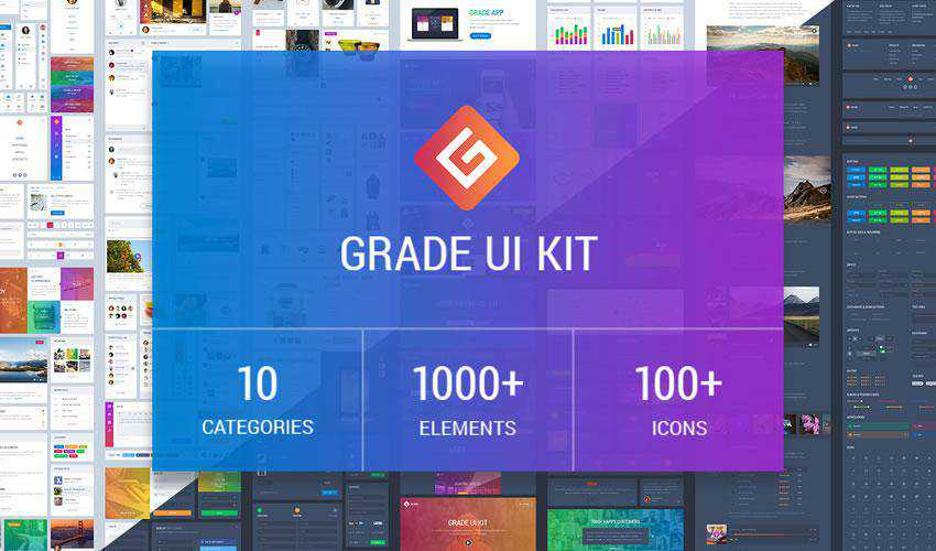 Grade Element free web ui kit user interface