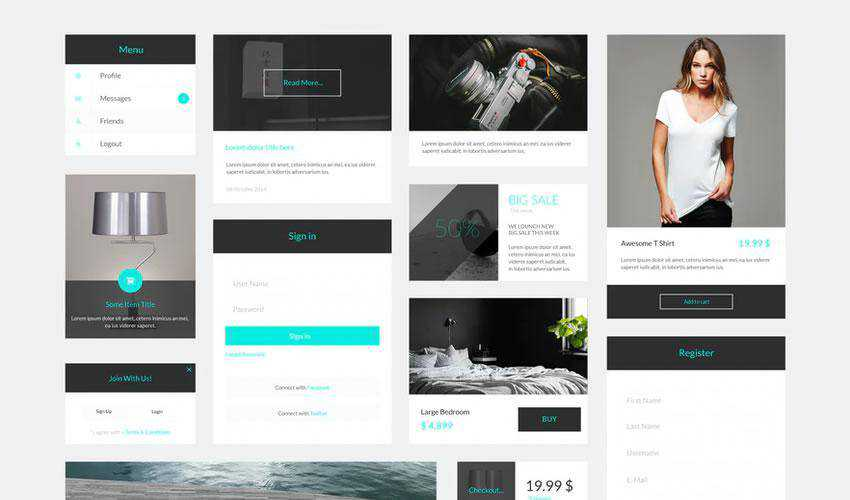 Sven Modern free web ui kit user interface