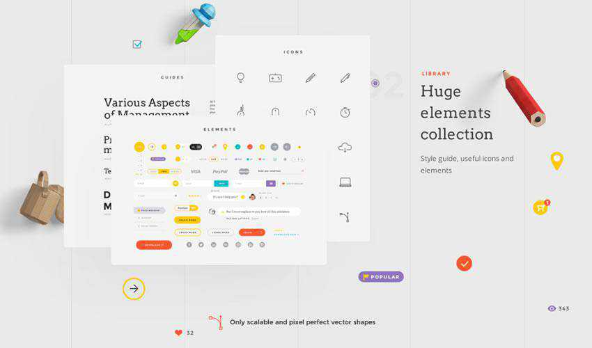 Landing UI Components free web ui kit user interface