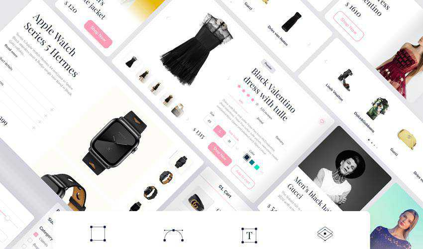 Clay Shop Ecommerce free web ui kit user interface