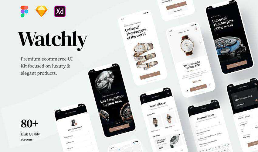 Watchly Ecommerce free web ui kit user interface
