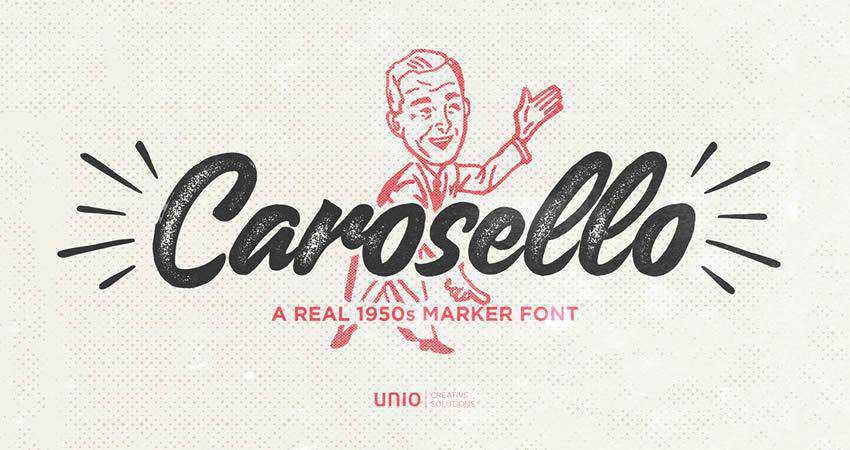 Carosello free handwritten Font hand-drawn font free