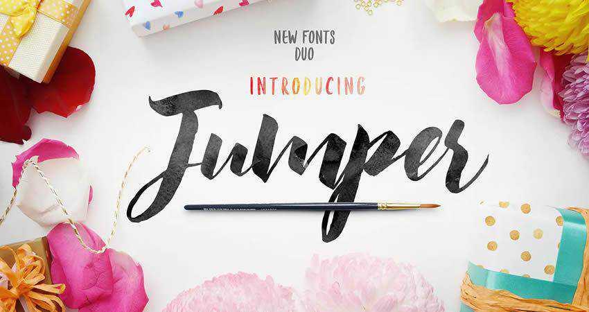 Jumper Script Fonts hand-drawn font free