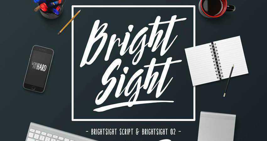 Bright Sight hand-drawn font free