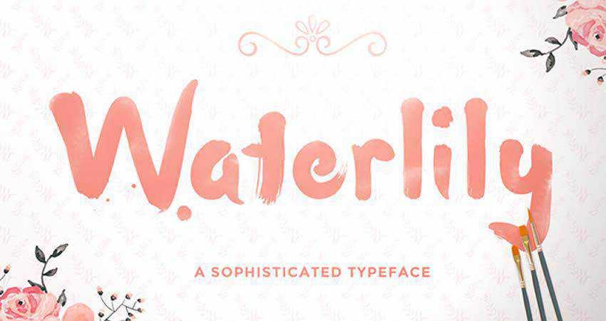 Waterlily free handwritten Handwriting Font hand-drawn font free