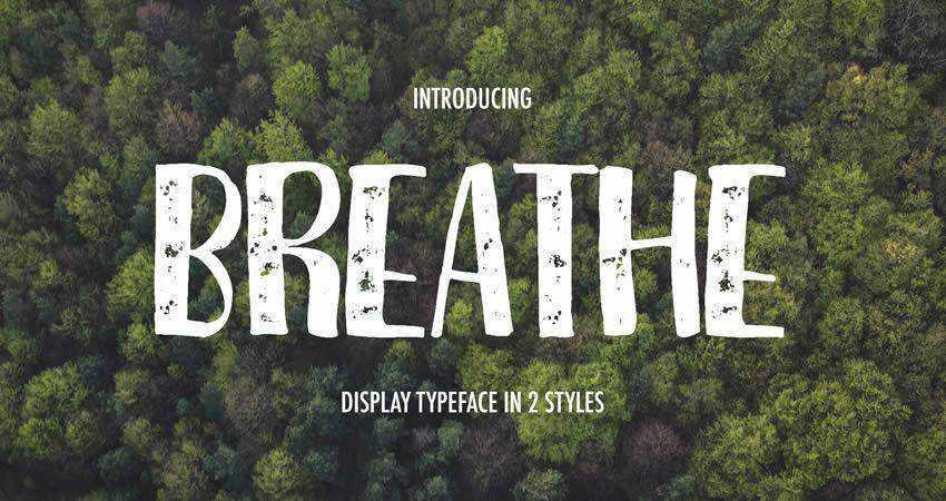 free handwritten Breathe Font Family hand-drawn font free